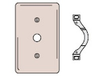 HBL-WDK NP128GY WALLPLATE 2-G 1) DUP 1) .406 OPNG GY