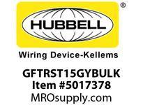 HBL_WDK GFTRST15GYBULK 15A COM SELF TEST TR GFR GRAY BULK