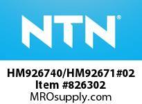 NTN HM926740/HM92671#02 TAPERED ROLLER BRG