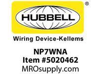 HBL_WDK NP7WNA WALLPLATE 1-G 1.40^ OPNG WHITE