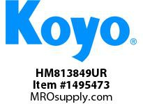 Koyo Bearing HM813849UR TAPERED ROLLER BEARING