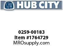 HubCity 0259-00183 HERA45 KIT BUSHING OUTPUT 1.250 HERA Accessory