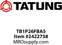 Tatung TB1P26FBA5 1/2 HP 1200 RPM 56C FRAME Standard Non E-Pact 2.2/1.1 F/L AMP TEFC C-Face with Foot 60hz 208-230/