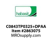"Habasit C0843TP0325+DPAA 843 3.25"" Acetal Top Plate"