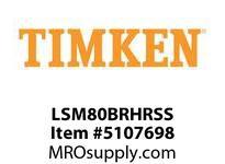 TIMKEN LSM80BRHRSS Split CRB Housed Unit Assembly