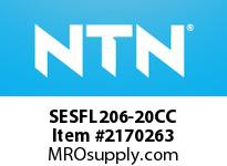 NTN SESFL206-20CC Stainless-Oval flanged unit