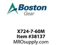 BOSTON 53825 X724-7-60M 724 I/P S/A RED 60:1