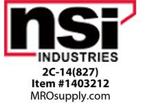 NSI 2C-14(827) 2-14 AWG 8 POSITION COPPER NEUTRAL BAR