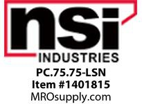 NSI PC.75.75-LSN .75 X .75 LOK-SLOT PANEL CHANNEL NARROW FINGER - COVER INCLUDED
