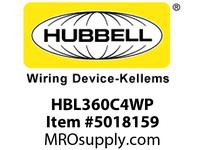 HBL_WDK HBL360C4WP PS IEC CONN 2P3W 60A 125V W/TPILOT