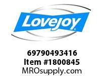 LoveJoy 69790493416 SXCS255-6 MOUNTING RING
