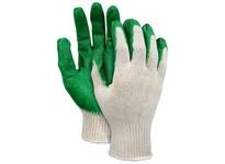 MCR 9681S 10 Gauge Medium Weight Cotton/Poly Green Latex Dip Palm