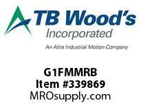 TBWOODS G1FMMRB 1FMMX3/8 RB GEAR HUB