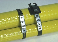"AE0199 Easy Read Character ""J"" 316SS Slide on to Coated or Uncoated Band or Ties up to 3/8"" Wide"