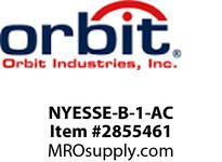 Orbit NYESSE-B-1-AC LED NY SURF EDGE-LIT EXIT SIGN BLK TRM1F AC ONLY
