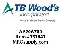 TBWOODS AP20A700 AP20 X 7.00 SPACER ASSY CL A
