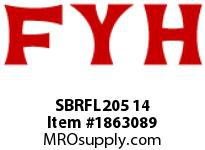 FYH SBRFL205 14 RUBBER MOUNTED PRESSED STEEL SETSCREW LOCKING