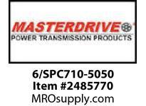 MasterDrive 6/SPC710-5050 6 GROOVE SPC SHEAVE