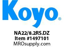 Koyo Bearing NA22/8.2RS.DZ NEEDLE ROLLER BEARING TRACK ROLLER ASSEMBLY