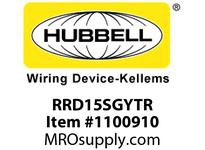 HBL-WDK RRD15SGYTR RCPT DUP DEC TR 15A 125V GY