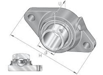 INA RCJTY7/8 Two-bolt flanged unit