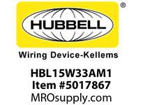 HBL_WDK HBL15W33AM1 WT CONN 5-20R 20A/125V IN BOX
