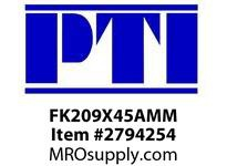 PTI FK209X45AMM 3-BLT FLGD BRACKET BRG-45MM B4M-METRIC MTD BALL BRG&INSERT