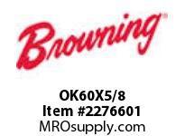 Browning OK60X5/8 FHP CI F/B SHEAVES