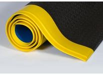 "Crown WBRZ048YPC 562 - Wear-Bond Comfort-King 9/16"" Pebble 48in Custom Black/Yellow"