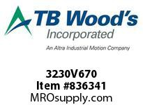 TBWOODS 3230V670 3230V670 VAR SP BELT