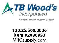 TBWOODS 130.25.500.3636 HUCO TELESHAFT 25 7/8 --1/2