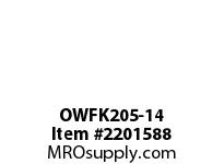 PTI OWFK205-14 2-BOLT FLANGE BEARING-7/8 OWFK SILVER SERIES - NORMAL DUTY -