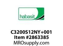 Habasit C3200S12NY+001 1200/3200 8T Molded White Nylon Ext Hub - Std Stock Bore