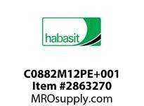 Habasit C0882M12PE+001 882 12T Machined Solid White UHMW - MPB