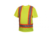Pyramex RCTS2110L Hi-Vis Lime T-Shirt with Contrasting Reflective Tape - Size Large