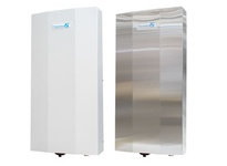 Pfannenberg 12358510045 PWS 3502 NEMA Type 12/3R/4 Air/Water Heat Exchanger 6300W @ W10 / A35C 115 VAC RAL 7035 (Light G