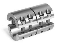 Climax Metal 2MISCC-20-20-KW 20mm x 20mm ID 2pc Stl w/key Shaft Coupling