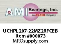 AMI UCHPL207-22MZ2RFCEB 1-3/8 ZINC SET SCREW RF BLACK HANGE COVERS SINGLE ROW BALL BEARING