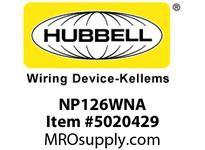 HBL_WDK NP126WNA WALLPLATE 2-G 1) TOG 1) REC WHITE
