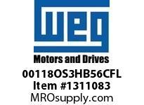 WEG 00118OS3HB56CFL 1HP 1800 3 60 575V Nema 56 ODP