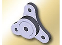 BUNTING LF122014 3/4 Bore 3 Bolt Flanged Mount Lube Align 3 Bolt Flanged Mount Lube Align