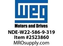WEG NDE-W22-586-9-319 W22 NDE END SHIELD 586-9 319 Motores