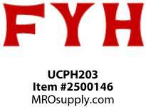 FYH UCPH203 17MM ND SS *PEDESTAL BASE* PILLOW BLOCK