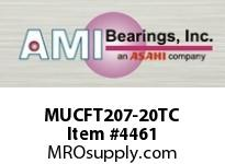 AMI MUCFT207-20TC 1-1/4 STAINLESS SET SCREW TEFLON 2- BRG TEFLON COAT HSG
