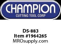 Champion D5-883 CARB TIP POINTED NOSE TOOL