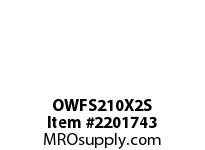 PTI OWFS210X2S 2-BOLT FLANGE BEARING-2 OWFS 200 GOLD SERIES - NORMAL DUTY