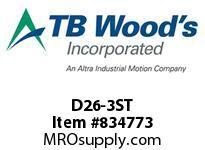 TBWOODS D26-3ST HUBS D26 ROUGH BORE MS (SOLID)