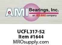 AMI UCFL317-52 3-1/4 HEAVY SET SCREW 2-BOLT FLANGE
