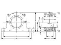 TIMKEN SDAF 23248K X 9 SRB Pillow Block Assembly