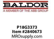BALDOR P18G3373 3HP 1755RPM 3PH 60HZ L182T  TEFC FOOT